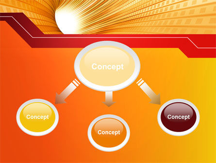 Orange Tunnel PowerPoint Template, Slide 4, 10400, Abstract/Textures — PoweredTemplate.com