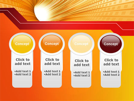 Orange Tunnel PowerPoint Template Slide 5