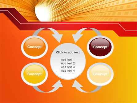 Orange Tunnel PowerPoint Template Slide 6