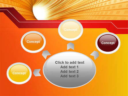 Orange Tunnel PowerPoint Template Slide 7