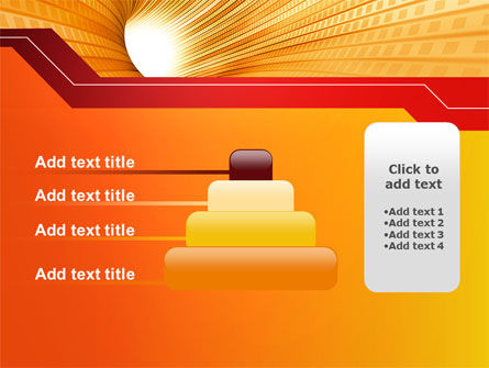 Orange Tunnel PowerPoint Template Slide 8