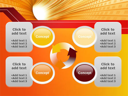 Orange Tunnel PowerPoint Template Slide 9