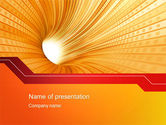 Abstract/Textures: Orange Tunnel PowerPoint Template #10400