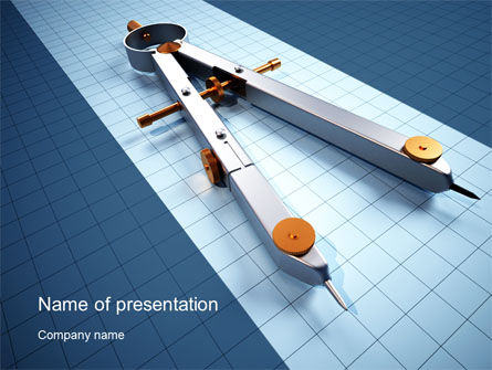 Utilities/Industrial: Compass Divider PowerPoint Template #10401