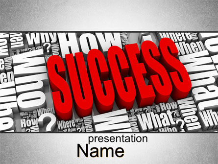 Careers/Industry: How to Succeed PowerPoint Template #10402