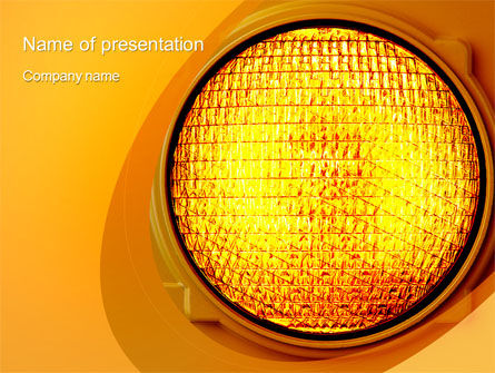 Consulting: Warning Traffic PowerPoint Template #10406