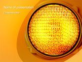 Warning Traffic PowerPoint Template#1