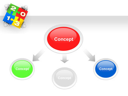2013 ny Puzzle PowerPoint Template, Slide 4, 10408, Business Concepts — PoweredTemplate.com
