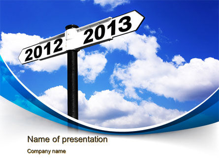 Business Concepts: New Year Border PowerPoint Template #10409