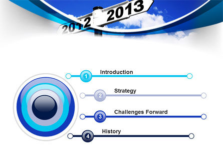 New Year Border PowerPoint Template Slide 3