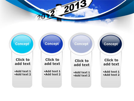 New Year Border PowerPoint Template Slide 5