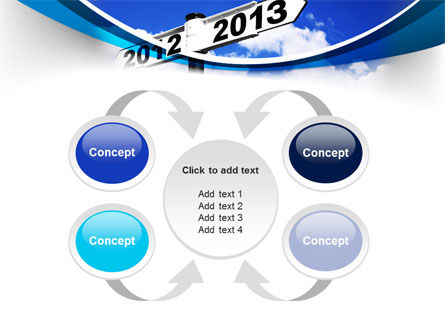 New Year Border PowerPoint Template Slide 6