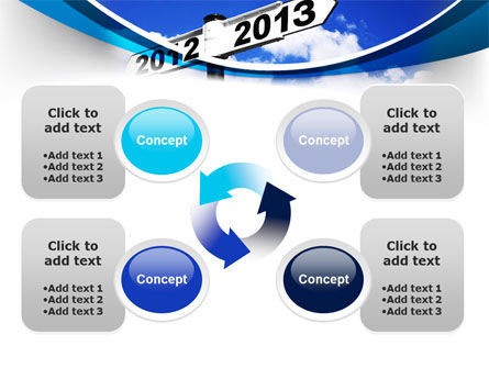 New Year Border PowerPoint Template Slide 9