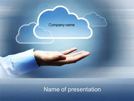 Cloud Solutions PowerPoint Template, 10410, Technology and Science — PoweredTemplate.com