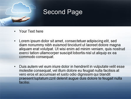 Cloud Solutions PowerPoint Template, Slide 2, 10410, Technology and Science — PoweredTemplate.com