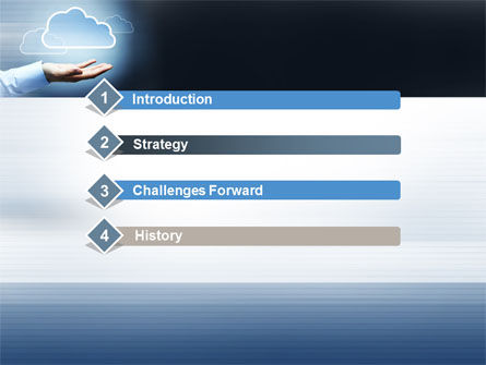 Cloud Solutions PowerPoint Template, Slide 3, 10410, Technology and Science — PoweredTemplate.com