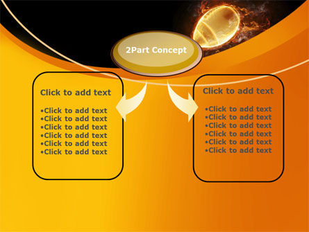 Fiery American Football Ball PowerPoint Template, Slide 4, 10412, Sports — PoweredTemplate.com