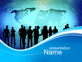 Business: Business Silhouettes PowerPoint Template #10414