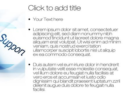 Support Button PowerPoint Template, Slide 3, 10418, Careers/Industry — PoweredTemplate.com