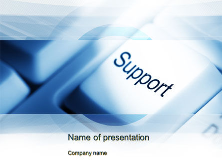 Careers/Industry: Support Button PowerPoint Template #10418