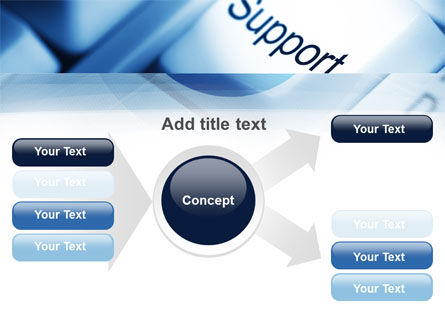 Support Button PowerPoint Template Slide 14