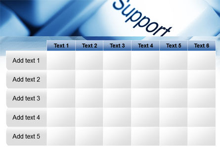 Support Button PowerPoint Template Slide 15