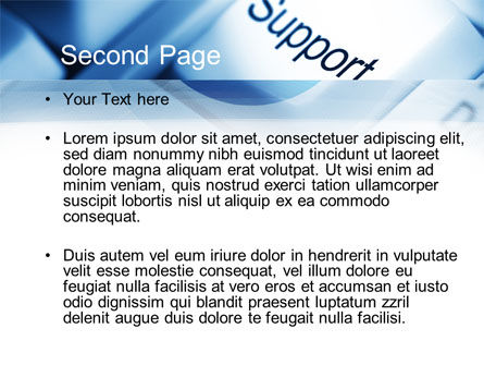 Support Button PowerPoint Template Slide 2