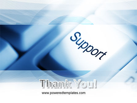 Support Button PowerPoint Template Slide 20