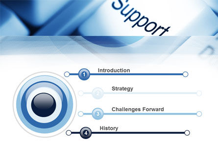 Support Button PowerPoint Template Slide 3