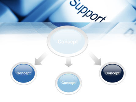 Support Button PowerPoint Template, Slide 4, 10418, Careers/Industry — PoweredTemplate.com