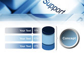 Support Button PowerPoint Template#11
