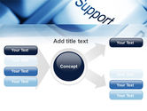 Support Button PowerPoint Template#14