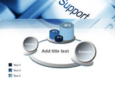Support Button PowerPoint Template#16