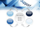 Support Button PowerPoint Template#6