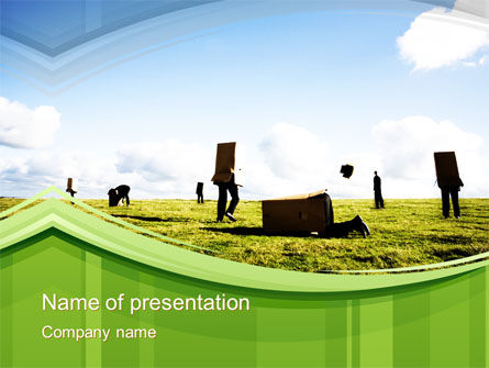 Walking in a Box PowerPoint Template