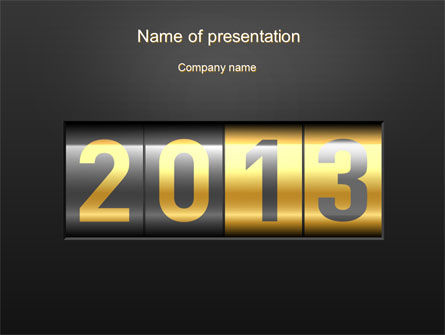 Holiday/Special Occasion: New Year Counter PowerPoint Template #10420