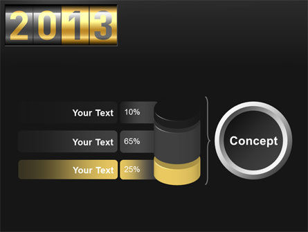 New Year Counter PowerPoint Template Slide 11
