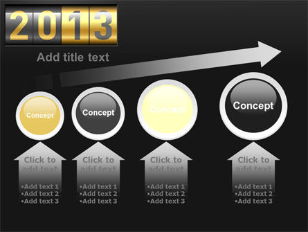 New Year Counter PowerPoint Template Slide 13