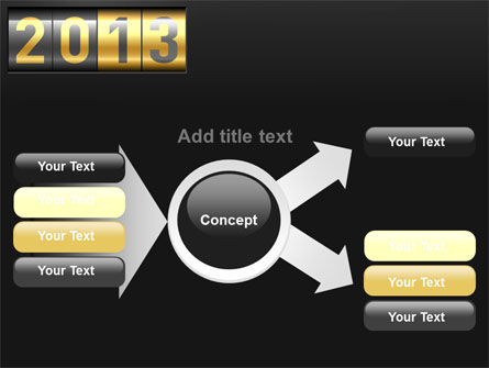 New Year Counter PowerPoint Template Slide 14