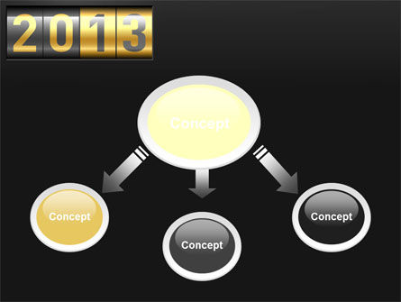 New Year Counter PowerPoint Template, Slide 4, 10420, Holiday/Special Occasion — PoweredTemplate.com