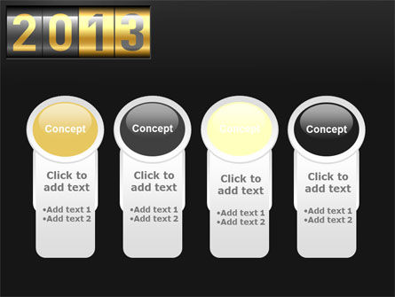 New Year Counter PowerPoint Template Slide 5
