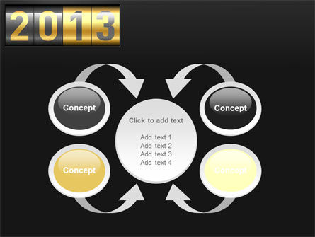 New Year Counter PowerPoint Template Slide 6