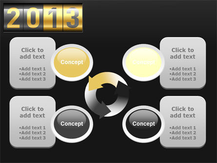 New Year Counter PowerPoint Template Slide 9