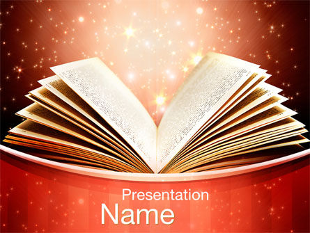 Magic Book PowerPoint Template, 10421, Education & Training — PoweredTemplate.com
