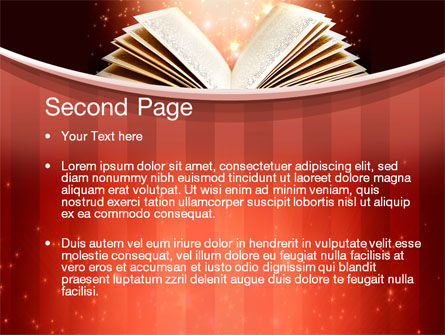 Magic Book PowerPoint Template, Slide 2, 10421, Education & Training — PoweredTemplate.com