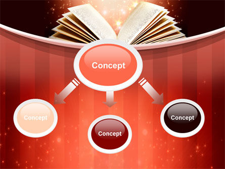 Magic Book PowerPoint Template, Slide 4, 10421, Education & Training — PoweredTemplate.com