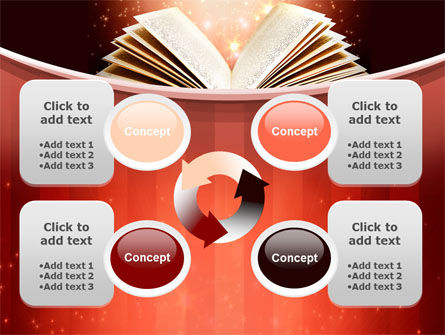 Magic Book PowerPoint Template Slide 9
