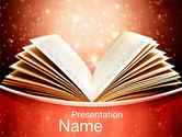 Education & Training: Magic Book PowerPoint Template #10421
