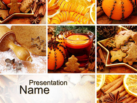 Holiday/Special Occasion: Christmas Cooking PowerPoint Template #10423