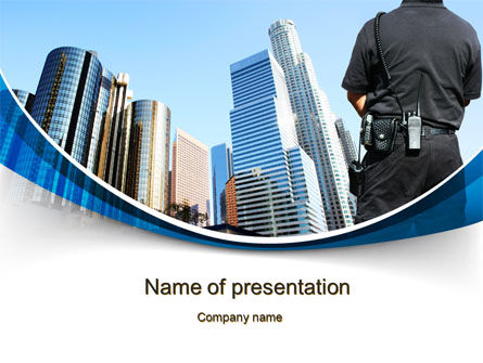 City Guard Security PowerPoint Template, 10425, Legal — PoweredTemplate.com
